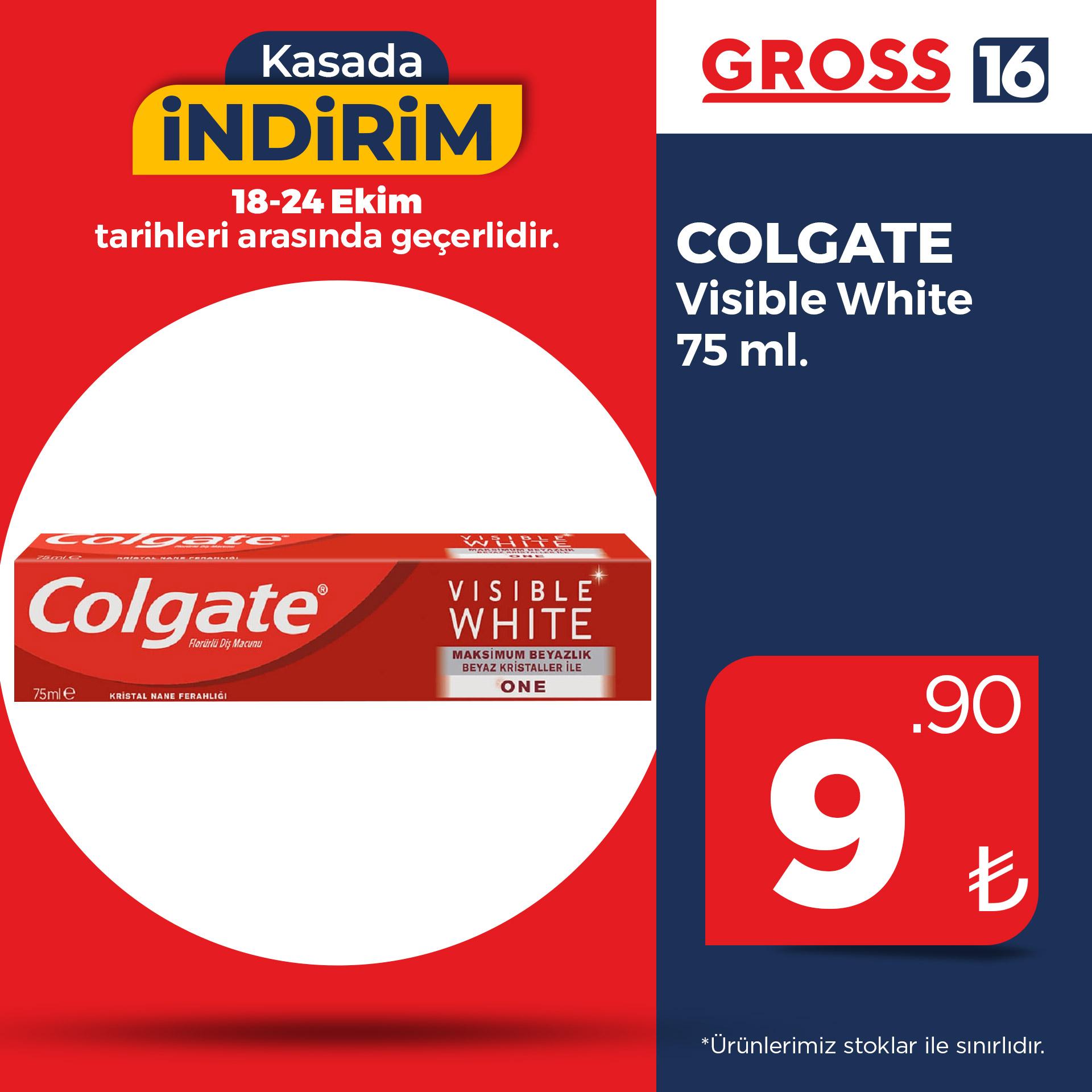 COLGATE VISIBLE WHITE 75 ML.